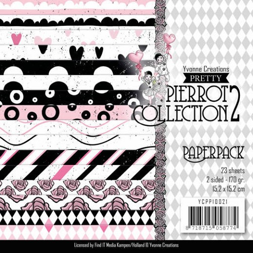 Paperpack - Yvonne Creations- Pretty Pierrot 2