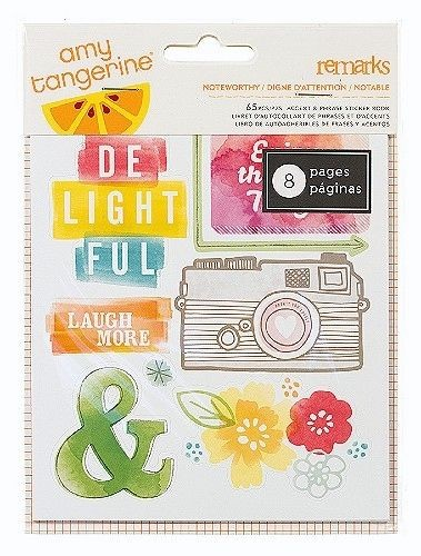 Amy Tangerine YES PLEASE Remarks Noteworthy Small Sticker Book