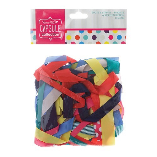 Assorted Ribbon (20pcs) - Spots & Stripes Summer Brights