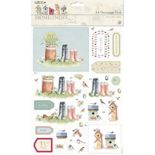 A4 Decoupage Pack - Early Bird