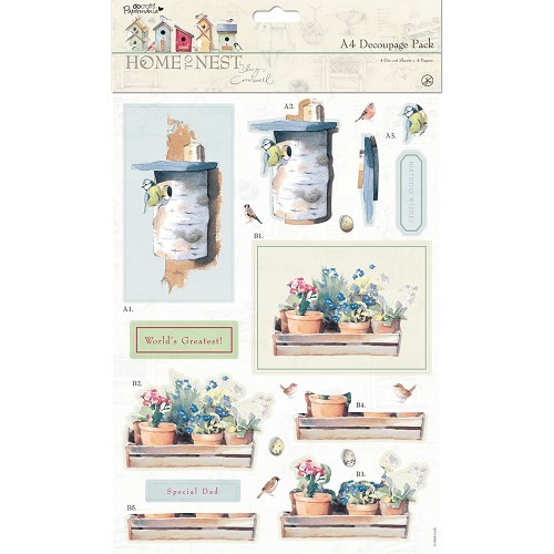 A4 Decoupage Pack - Home Sweet Home