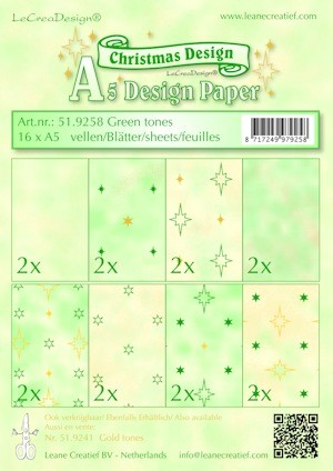 Design papier ass A5 Christmas green tones