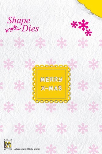 Shape Die Text Merry Christmas (tekst past in SD014)
