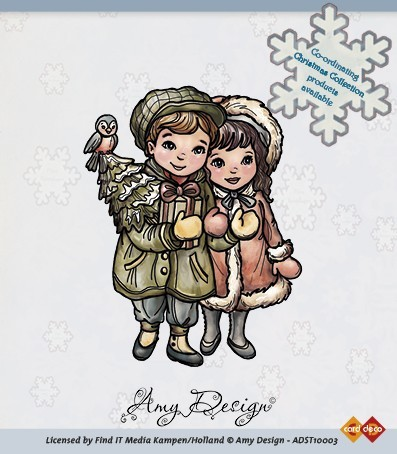 Clear Stamp - Christmas couple