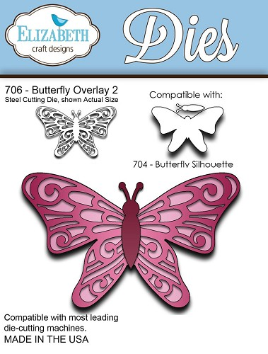 Steel Cutting Die Butterfly Overlay 2