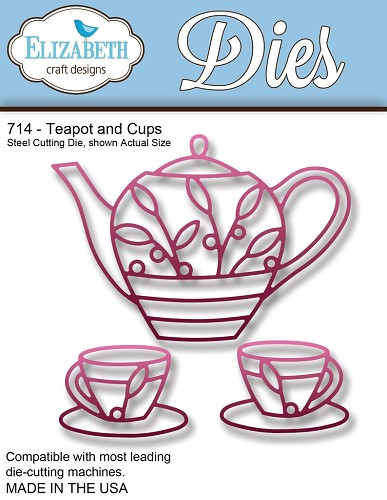 Steel Cutting Die Teapot and Cups