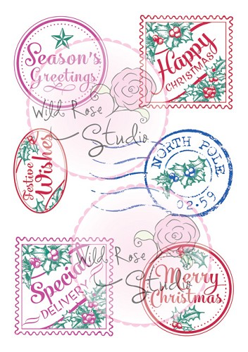 A7 stamp set Christmas Labels