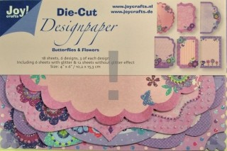 Die Cut Design Paper (18vel) Butterflies & Flowers