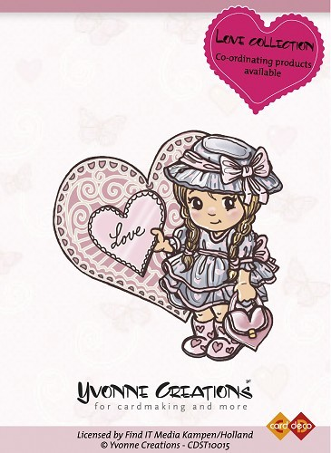 Yvonne Creations - Stamps - Love - Girl