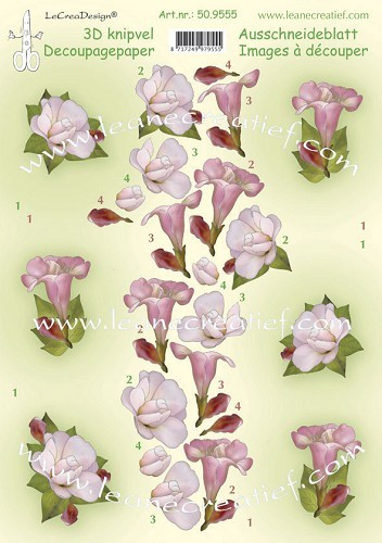 Decoratie 3D knipvellen Flowers