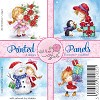Wild Rose Studio`s Printed panels Christmas Girl