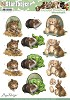 3D Pushout - Amy Design - Animal Medley - Fluffy Animals