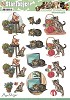 3D Pushout - Amy Design - Animal Medley - Cats